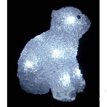 Светодиодная уличная фигура Мишка, 18 см, фото 2
