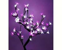 Светодиодное дерево Бонсай Цветущая сакура  60 см бело-розовое