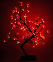 Декоративное дерево на светодиодах Бонсай Цветущая сакура  45 см красное