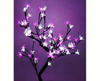 Светодиодное дерево Бонсай Цветущая сакура  45 см бело-розовое