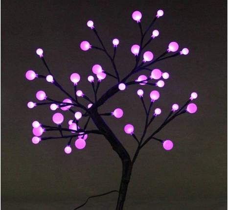 Светодиодное дерево Бонсай Снежные шарики  60см белое, фото 2