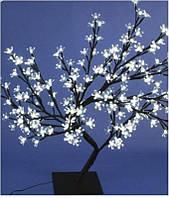 Светодиодное дерево Бонсай Цветущая сакура  60 см тепло-белое