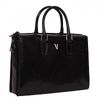 Деловая женская сумка-портфель Vip Collection Y 608А Чёрная