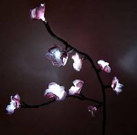 Светодиодный арт - декор  Ветка сакуры бело-розовая