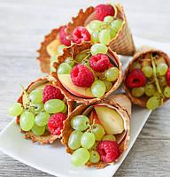 Вафельные рожки с фруктами, фото 1