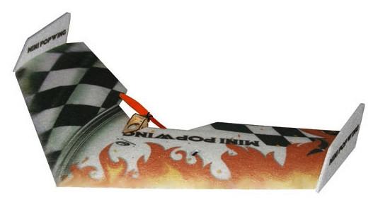 Летающее крыло Tech One Mini Popwing 600мм EPP ARF (черный) СЕРТИФИКАТ В ПОДАРОК