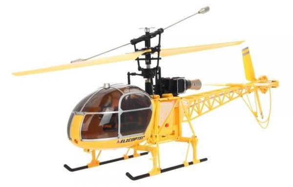 Вертолёт 4-к большой р/у 2.4GHz WL Toys V915 Lama (желтый) СЕРТИФИКАТ
