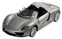 Машинка р/у 1:24 Meizhi лиценз. Porsche 918 металлическая (серый) СЕРТИФИКАТ В ПОДАРОК