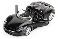 Машинка р/у 1:24 Meizhi лиценз. Porsche 918 металлическая (черный) СЕРТИФИКАТ В ПОДАРОК
