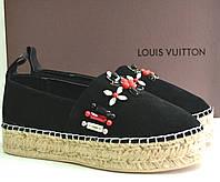 Эспадрильи женские брендовые из натуральной кожи на платформе