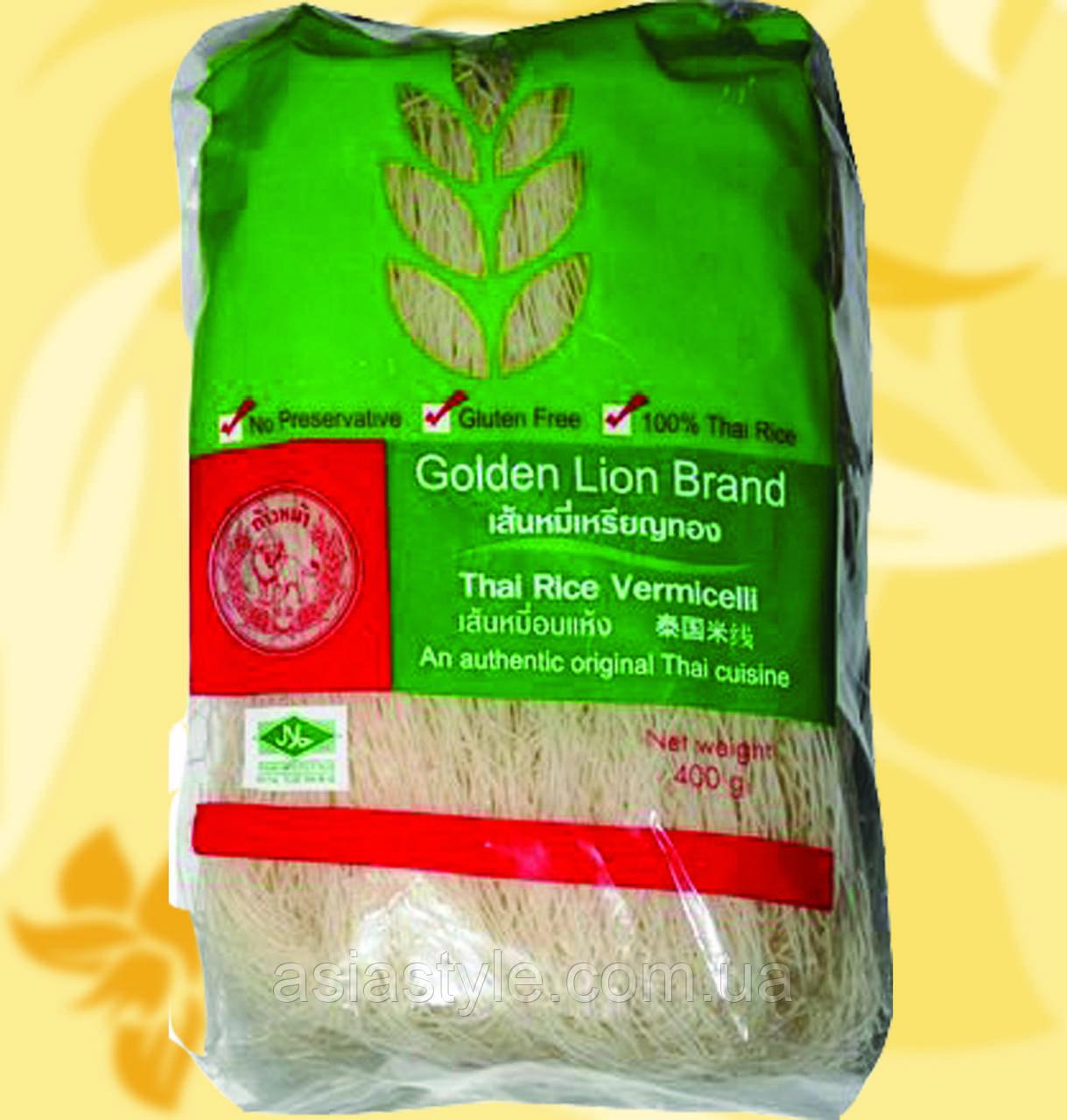 Рисова вермішель, без глютену, тонка, нитки, Golden Lion Brand, 170г, Ф