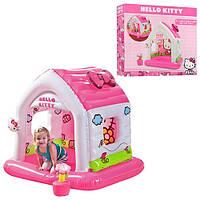 Надувной домик Hello Kitty, игровой центр 48631, поливинилхлорид, 137*109см, для 3-6 лет