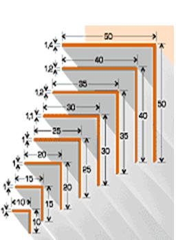 Угол арочный 40*40 мм Омис цветной в ассортименте