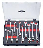 Набор ключей трещоточных шарнирных 12 пр. (8-19 мм)