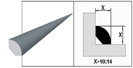 Штапик ПВХ Белый 14 мм.