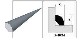 Штапик ПВХ Білий 14 мм.