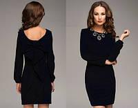Платье Бант черное