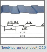 Профнастил стеновой окрашенный С 10 0.4 мм, фото 2