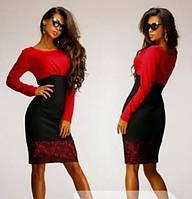 Платье Бриз красное