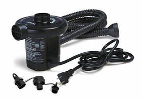 Насос электрический Intex 66622, надувание/сдув, 3 насадки, пластик, 600 л/мин, 12В/220В/аккумулятор
