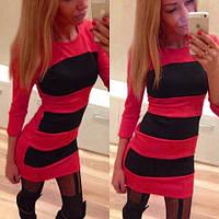 Стильное Платье Гламур красное