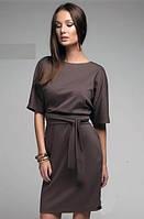 Платье Стиль коричневое