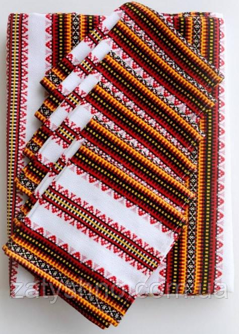 Набор вышитый скатерть и салфетки в украинском стиле
