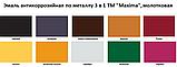 """Емаль антикорозійна по металу 3 в 1 ТМ """"Maxima"""", молоткова (срібляста) 2,5 л, фото 3"""