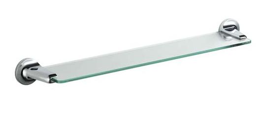 Полочка для душа стекло 60 см Haceka ASPEN Хасека Аспен, фото 2
