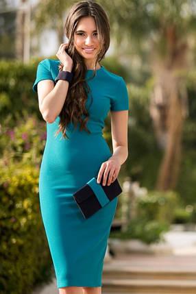 Облегающее платье Mиди бирюза, фото 2