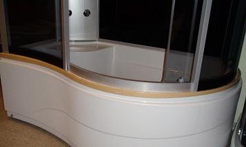 Гидробокс душевой угол Eco Lux Z20 130*83 левая/правая Эко Бренд, фото 2