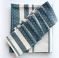 Набор скатерти и салфеток вышитых голубых