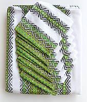 Скатерть для стола зеленая с салфетками