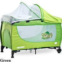 Детская кровать манеж Caretero Grande 2016 Green
