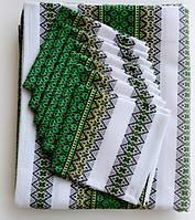 Вышитый столовый комплект зеленый вышитый