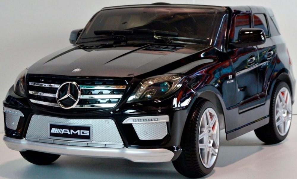 Детский электромобиль Mersedes Benz ML-63 (EVA колеса) Черный