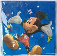 Салфетки праздничные Микки Маус 10 штук голубые