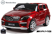 Детский электромобиль Mersedes Benz ML-63 (EVA колеса) Красный