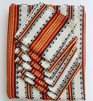Скатертина та серветки для столу помаранчева в українському стилі