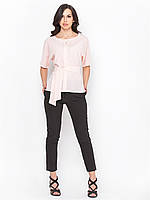 Нежная красивая женская блуза больших размеров с поясом р.48,50,52