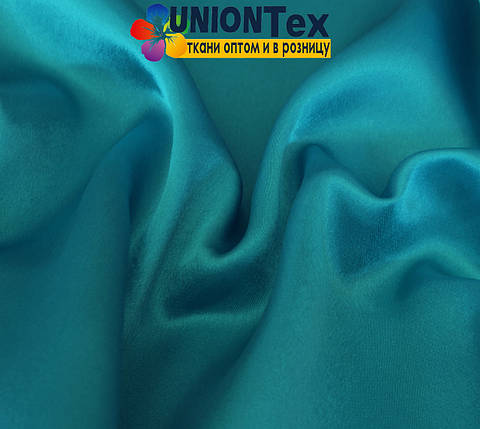 Креп-сатин голубая бирюза, фото 2