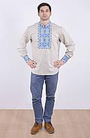 Расшитая мужская рубашка из высококачественного льна