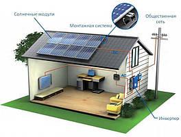 Сетевая солнечная электростанция для дома под Зеленый тариф мощностью 30 кВт/ч