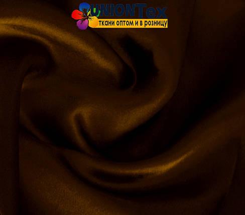 Креп-сатин коричневий, фото 2