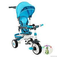 Детский велосипед DT128 голубой