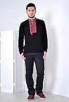 Рубашка с  красно-белым геометрическим узором