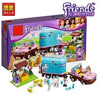 """Конструктор Brick 10161 """"Friends""""  """"Трейлер для лошадки Эмми"""", 217 деталей"""