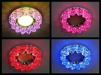 Точечный светильник Feron CD2542 MR16 c LED подсветкой RGB (с плавной сменой цветов!)