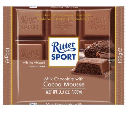 Шоколад Ritter Sport Kakao-Mouse (Риттер Спорт с шоколадным муссом), 100 г