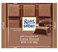 Шоколад Ritter Sport Kakao-Mouse (Риттер Спорт с шоколадным муссом), 100 г, фото 1